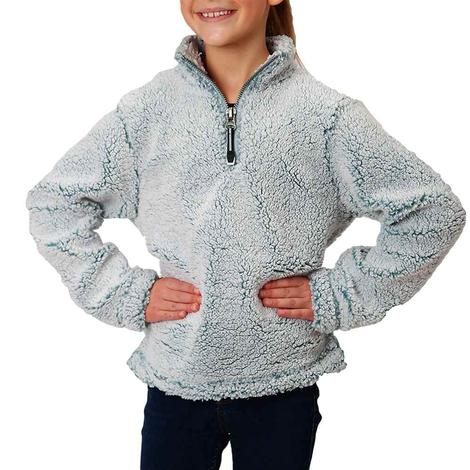 Roper Blue Polar Fleece Girl's Pullover