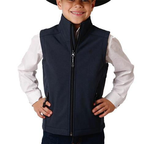 Roper Blue Tech Softshell Boy's Vest