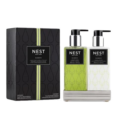 Nest Bamboo 2-piece Gift Set with Silver Caddy