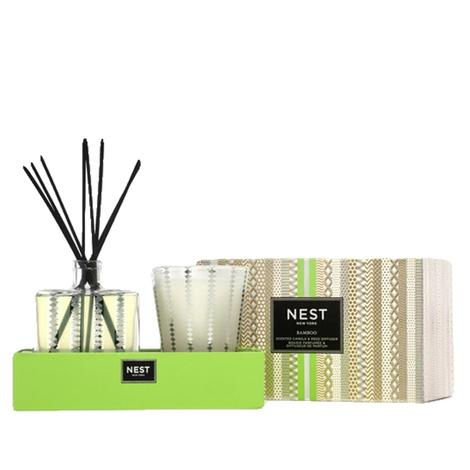 Nest Bamboo Candle Reed Diffuser Seasonal 2-piece Gift Set