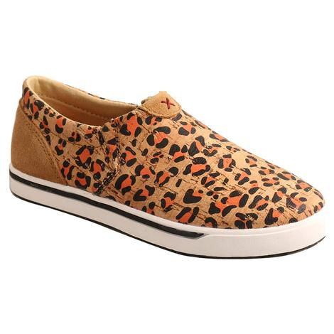 Twisted X Leopard Print Girl's Slipon Shoes