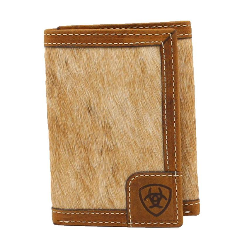 Ariat Calf Hair On Hide Trifold Men's Wallet