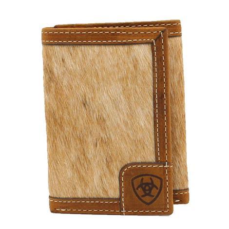 Ariat Calf Hair on Hide Trifold Men's Wallet