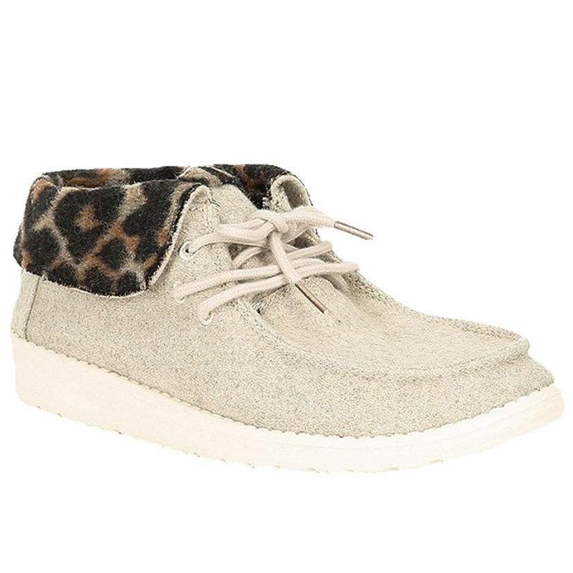 Hey Dude Britt Cream Cheetah Women's Slip On Shoes