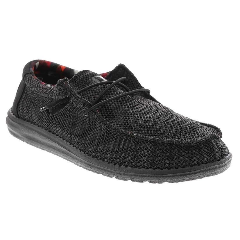 Hey Dude Wally Sox Jet Black Men's Shoe