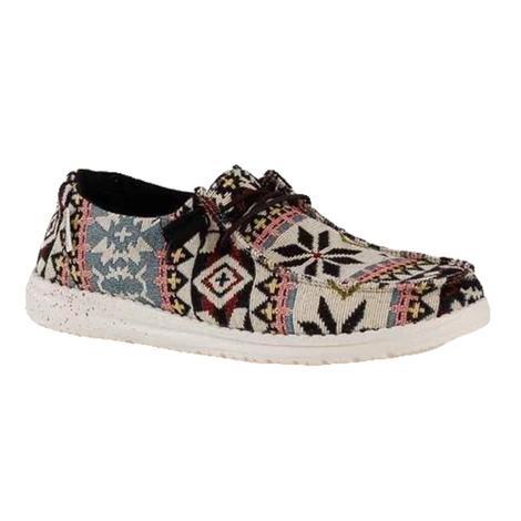 Hey Dude Wendy Black Aztec Women's Shoes