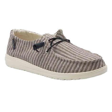 Hey Dude Wendy Grey Stripe Women's Shoes