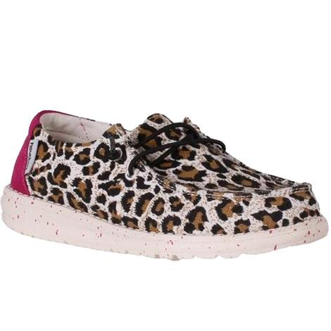 Hey Dude Wendy Youth Cheetah Shoes