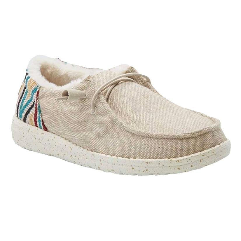 Hey Dude Wendy Funk Beige Slipon Women's Shoes