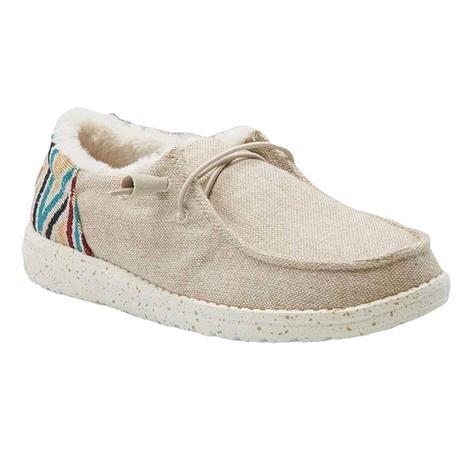 Hey Dude Wendy Funk Beige Slipon Women's Shoes