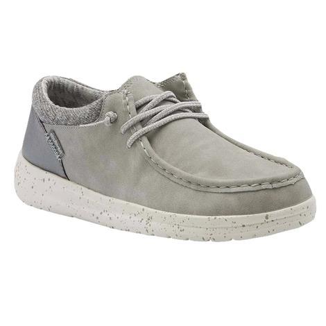 Hey Dude Polly Grey Slipon Women's Shoes