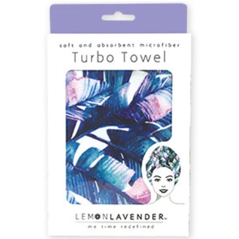 Lemon Lavender Turbo Towel FLORAL