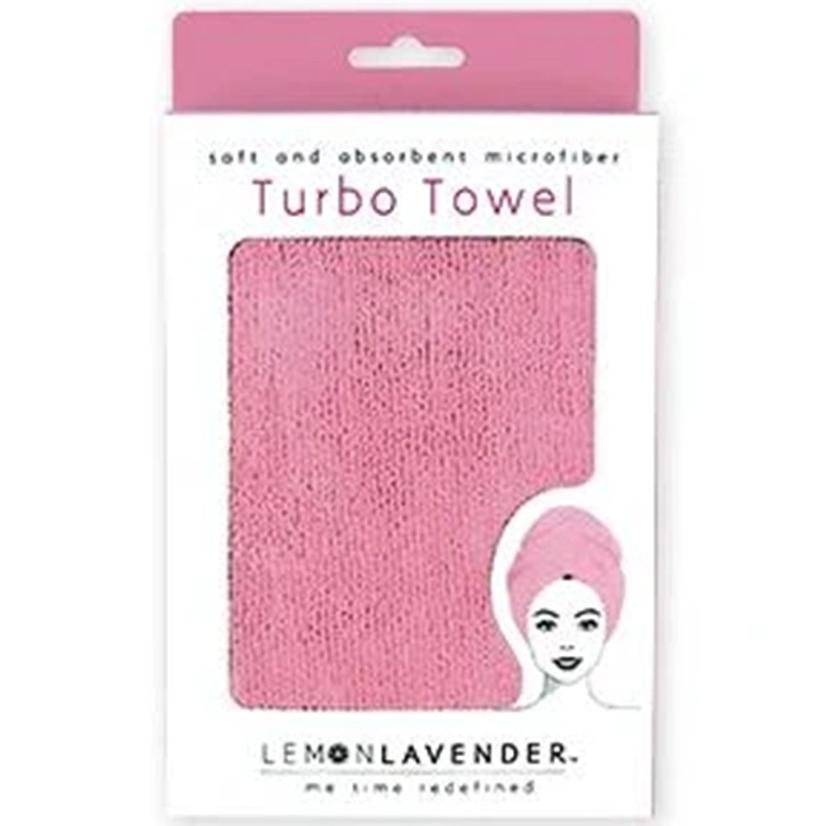 Lemon Lavender Turbo Towel PINK