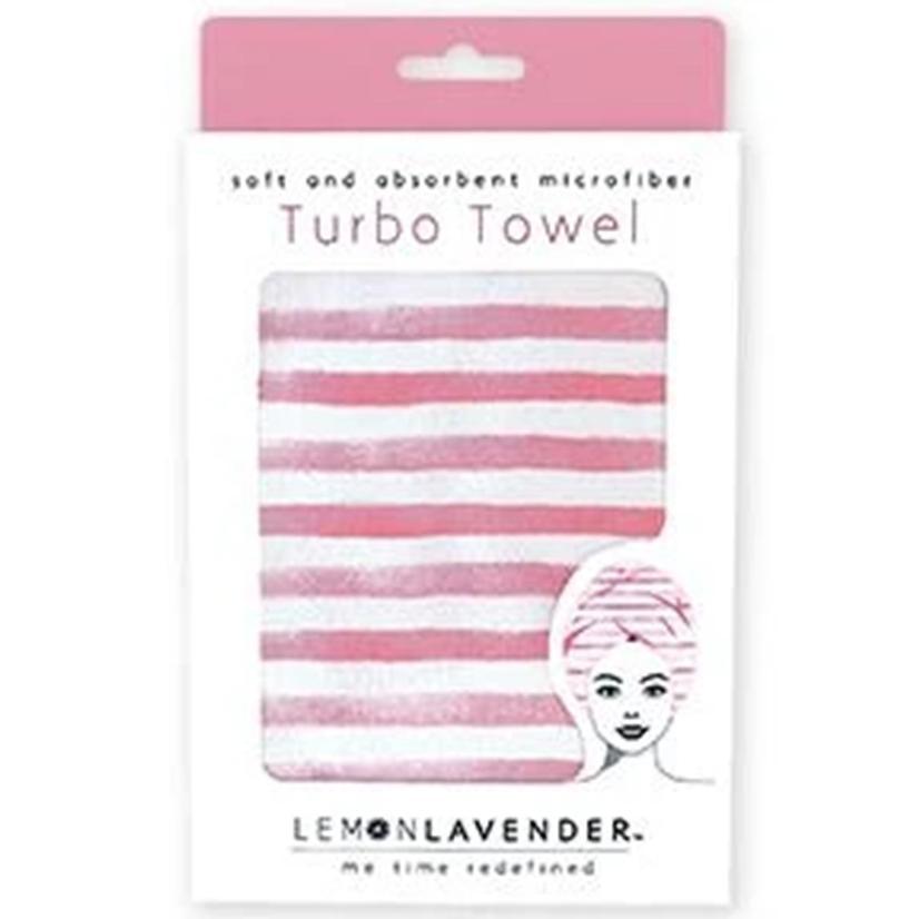 Lemon Lavender Turbo Towel STRIPES
