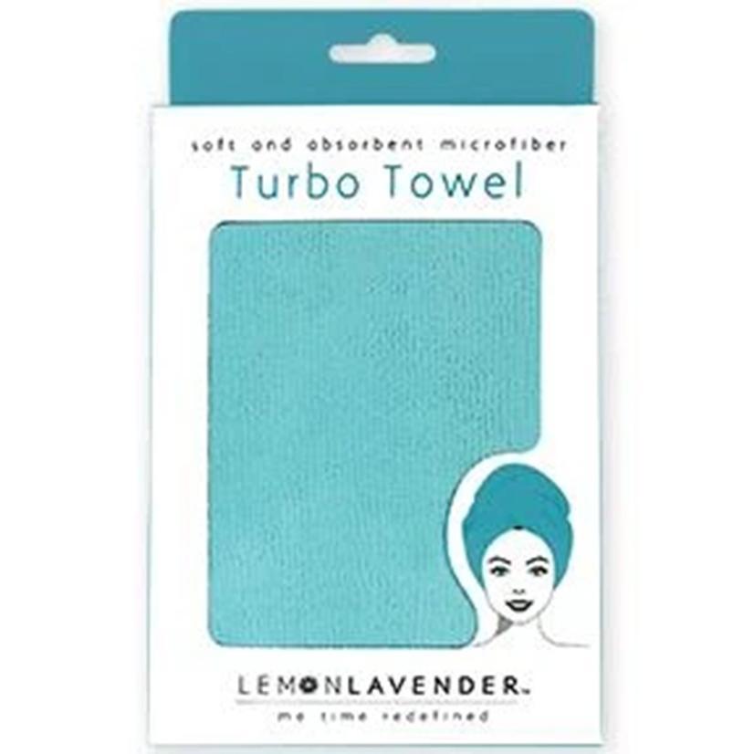 Lemon Lavender Turbo Towel TURQUOISE
