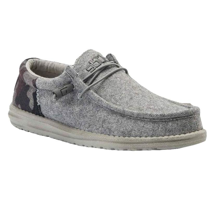 Hey Dude Wally Wool Funk Camo Grey Men's Shoes