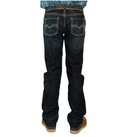 Rock & Roll Cowboy Pistol Straight Dark Wash Men's Jeans