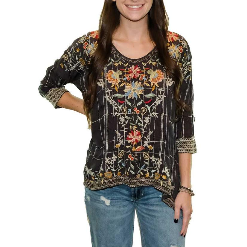 Johnny Was Sienna Women's Blouse With Three Quarter Sleeves