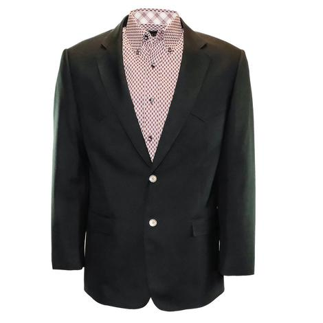 Red Sky Mens Western Blazer Coat - Black