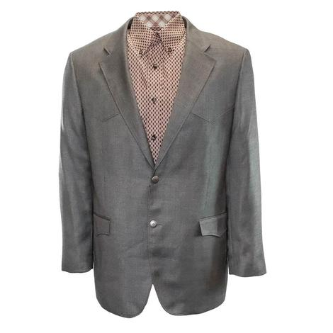 Red Sky Mens Western Style Blazer Coat - Grey