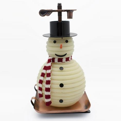 Candle By The Hour Snowman Candle With Copper Base