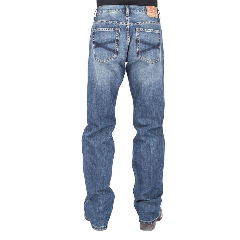 Stetson Modern Fit Low Rise Relaxed Bootcut Men's Jeans