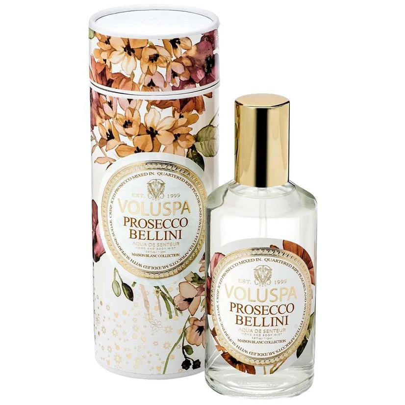 Voluspa Aqua De Senteur Room And Body Mist Prosecco Bellini 3.8oz