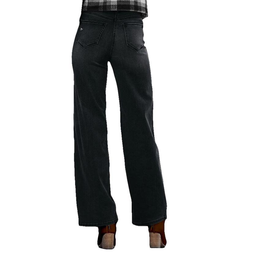 Hidden Jeans Black Denim Wide Leg Dad Jeans