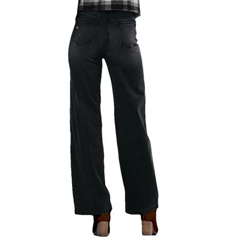 Hidden Jeans Black Denim Wide Leg Dad Jeans