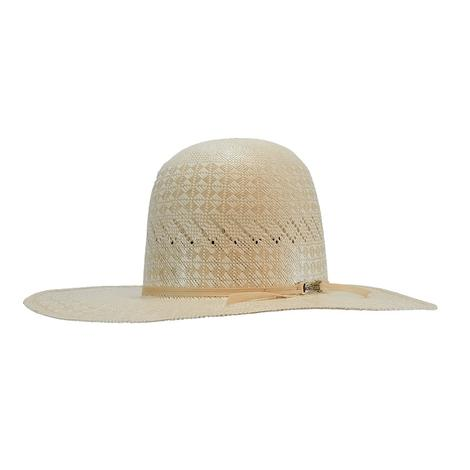 American Hat Company 4.5 Brim Open Crown with Leather Sweatband Straw Hat