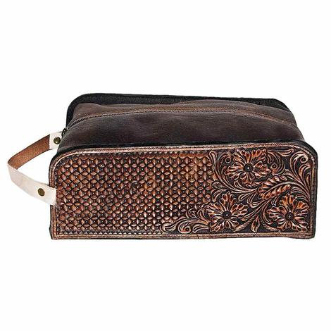 American Darling Bags Tooled Leather Shaving Kit