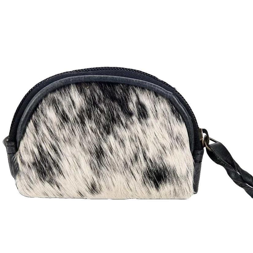 American Darling Bags Black And White Cowhide Makeup Bag