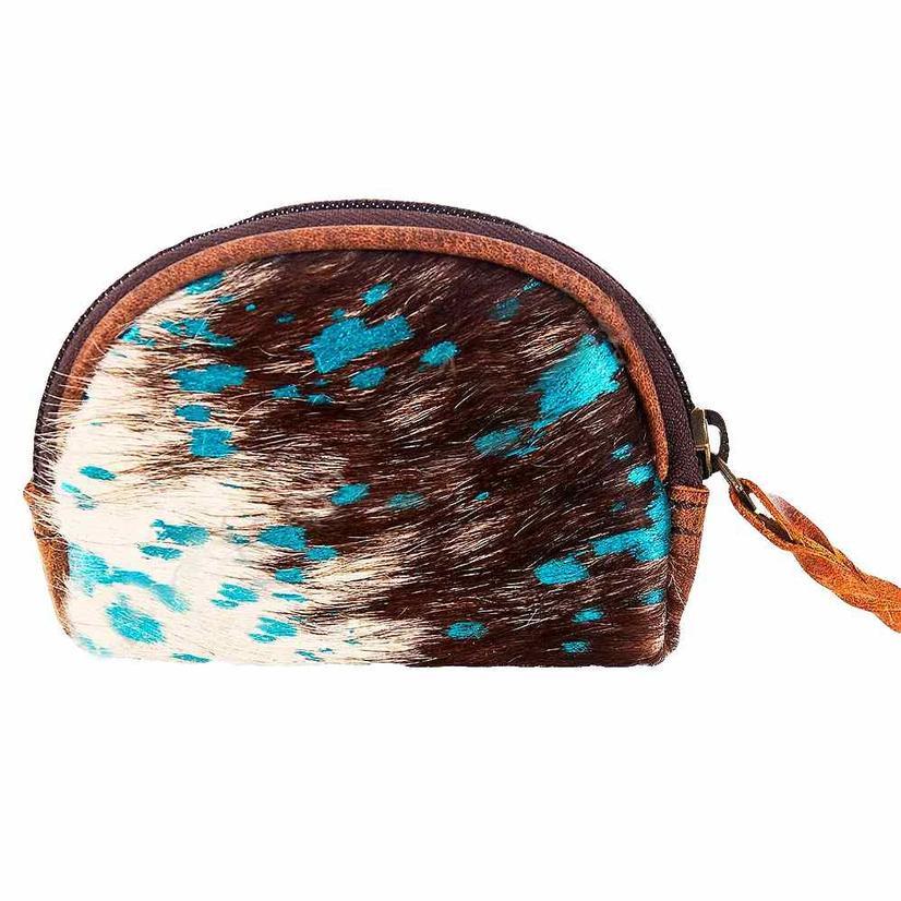 American Darling Bags Brown And White Cowhide Makeup Bag