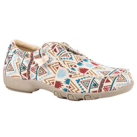 Roper Chillin Aztec Canvas Chukka Women's Shoes