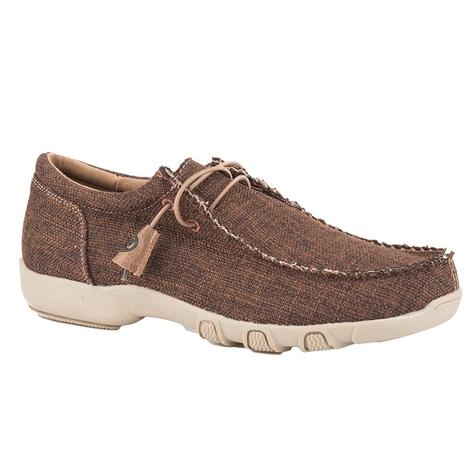 Roper Chillin Brown Tweed Fabric Women's Chukka Shoes
