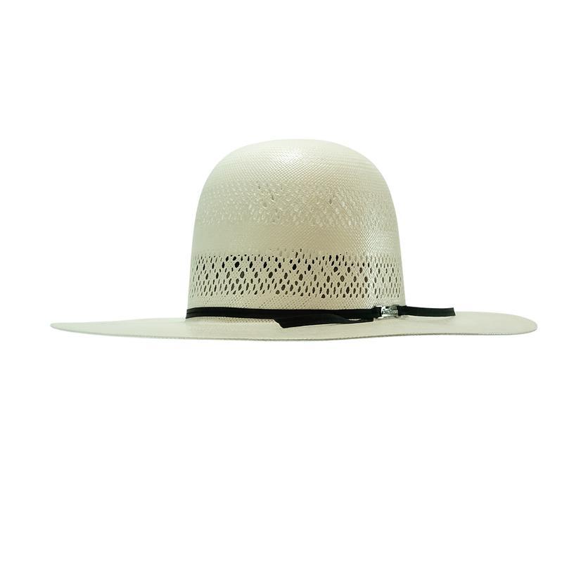 American Hat Company 4.5 Brim Leather Sweatband 2cord Black Headband Natural Straw Hat