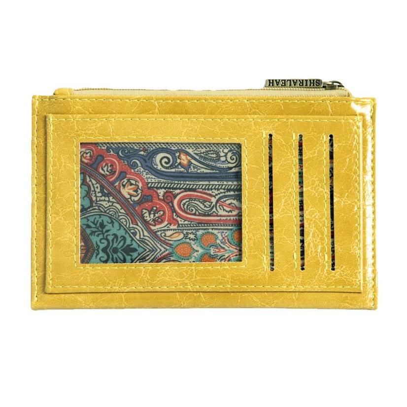 Shiraleah Harper Card Case Yellow