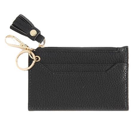 Shiraleah Cece Card Case with Keychain Black
