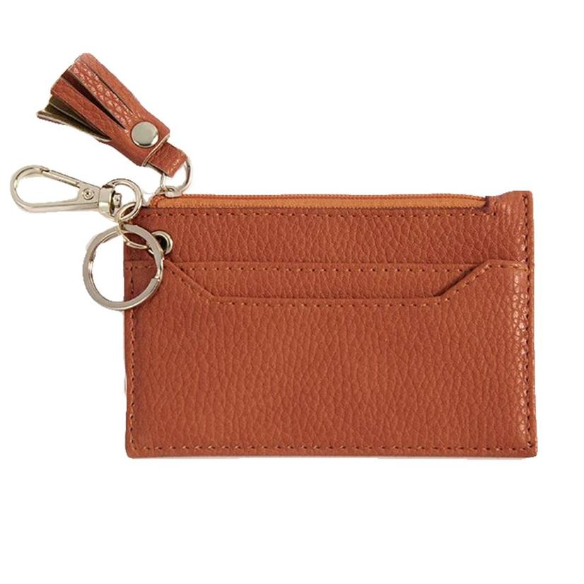 Shiraleah Cece Card Case With Keychain Orange