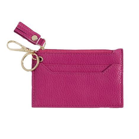 Shiraleah Cece Card Case with Keychain Pink