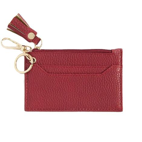 Shiraleah Cece Card Case With Keychain Red