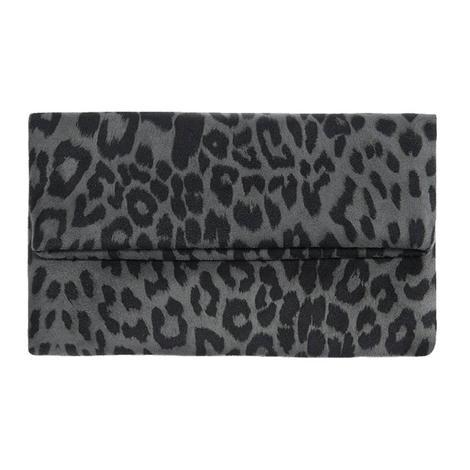 Shiraleah Tori Fold Clutch in Grey Leopard