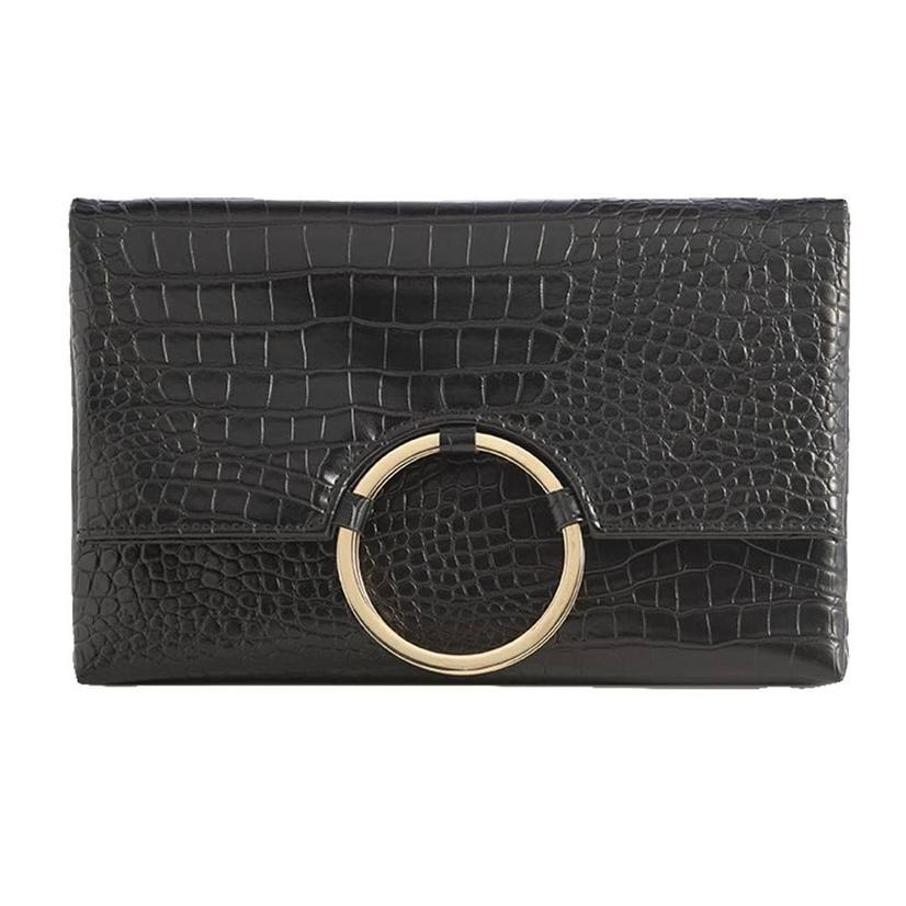 Shiraleah Carter Fold Clutch In Black