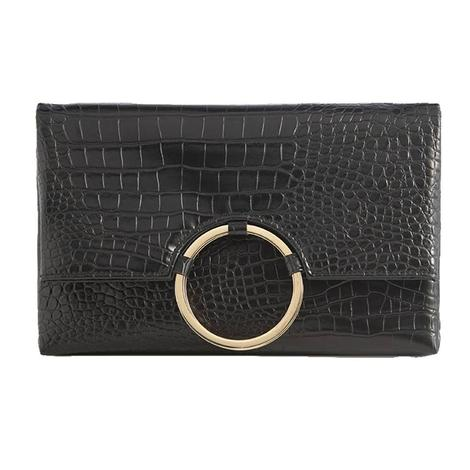 Shiraleah Carter Fold Clutch in Black