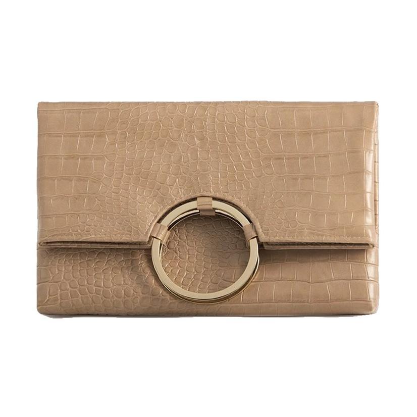 Shiraleah Carter Fold Clutch In Blush