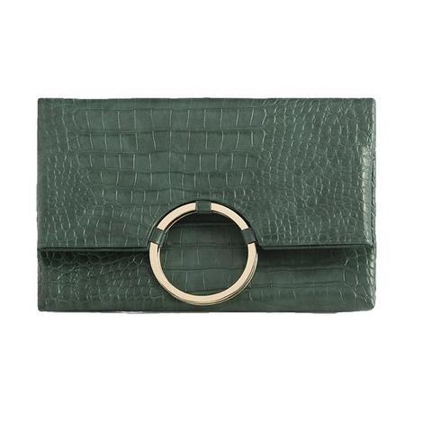 Shiraleah Carter Fold Clutch in Emerald