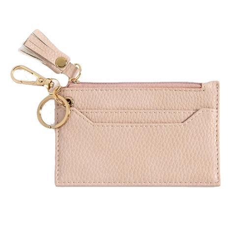 Cece Card Case with Keychain Blush