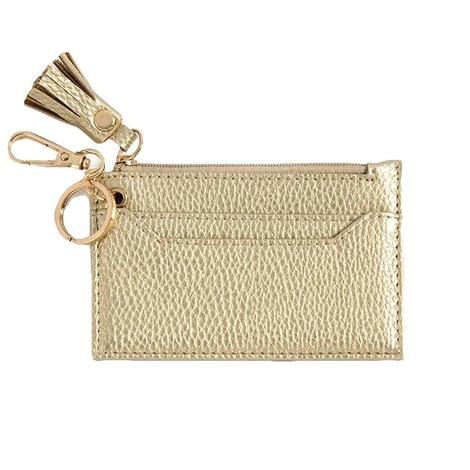 Shiraleah Cece Card Case with Keychain Gold
