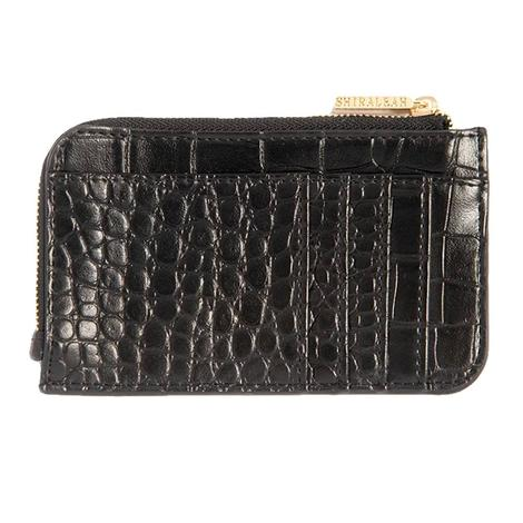 Shiraleah Carter Card Case with Key Chain in Black