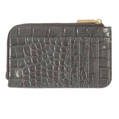 Shiraleah Carter Card Case with Key Chain in Charcoal